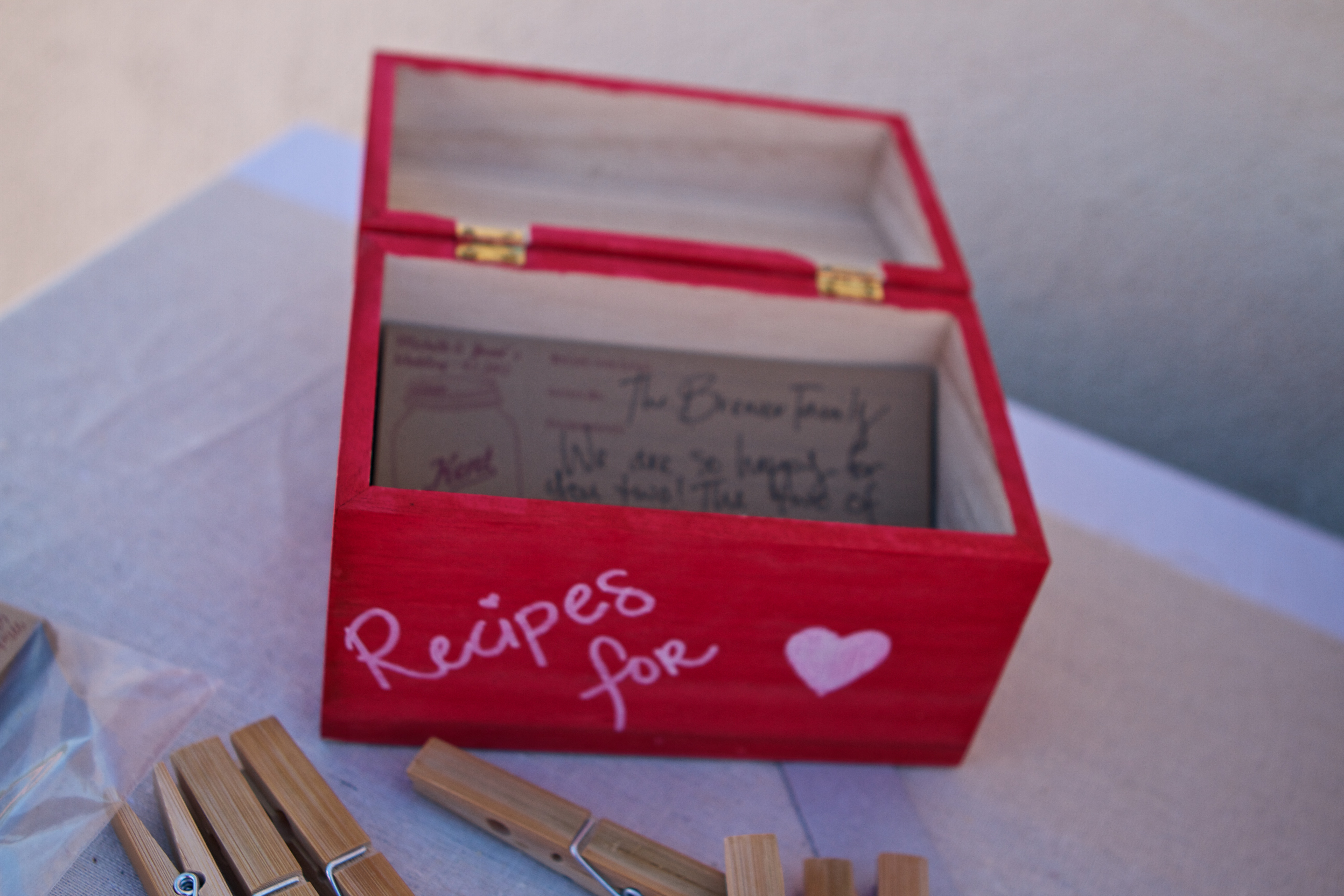 J&M  Recipe Card guest book